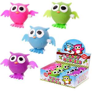 Fun Kids Wind Up Cute Owl Toy / Happy Hopper Owl