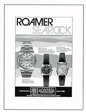 1970s Original Vintage 1977 Roamer Searock Swiss Watch Paper Print Ad