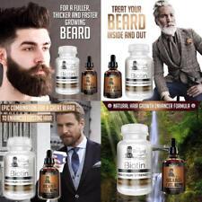 KIT DE CRECIMIENTO DE BARBA para suplemento de barba de pelo cara aceite barba