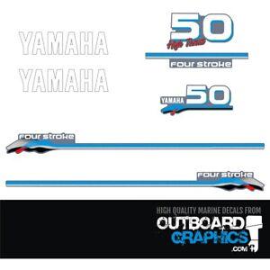 Yamaha 50hp High Thrust 4 stroke outboard engine decals/sticker kit