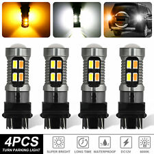4x 3157 3156 Led Turn Signal Drl Light Bulbs White Amber Switchback 4157na 3457a Fits Mustang