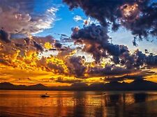FIRE SKY SUNSET SUNRISE YELLOW PHOTO ART PRINT POSTER PICTURE BMP2105A