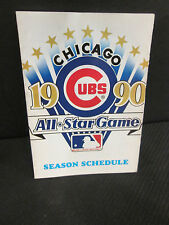 CHICAGO CUBS BASEBALL 1990 ALL-STAR GAME  SCHEDULE