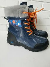 New Ugg Australia Kids Butte Ii Navy Patent Waterproof Winter Boots Sz 3