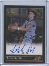 2018 Leaf Ultimate Draft Lamelo Ball '92 Black Gold Auto 18/25 Rookie RC