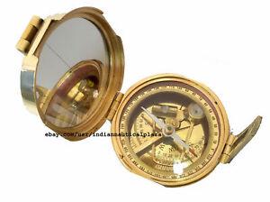 X-Mas Brass Maritime Stanley London Brunton Compass Solid Brass Heavy Compas