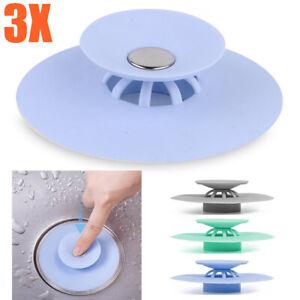 3x Abflusssieb Sieb Silikon Waschbecken. Spülbecken Dusche Badewannenstöpsel