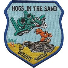 """A-10 Hogs In The Sand patch - """"DESERT SHIELD"""" USAF MILITARY PATCH"""