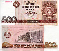 GERMANY EAST (DDR) 500 Marks Banknote World Currency Money BILL p33 1985 Note