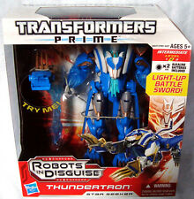 Transformers Prime Voyager Class Thundertron Action Figure Toy MIB Animated RID