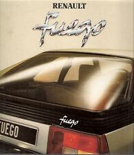 Renault Fuego 1980 French Market Foldout Sales Brochure TL GTL Automatic GTS