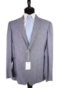 Billy Reid NWT Sport Coat Size 44R In Blue Rustin Jacket 3 Patch Pockets Linen