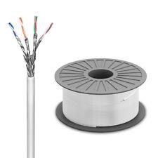 100m CAT6 Netzwerkkabel Verlegekabel S/FTP PIMF Schirmung Gigabit LAN DSL Kabel
