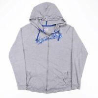 NIKE Grey KANSAS CITY Big Logo Full Zip American Sports Hoody Size Mens XL