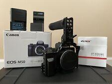Canon EOS M50 24.1MP Mirrorless Digital Camera w/Viltrox M2 & Smallrig cage