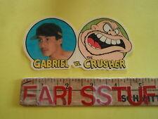 NOS VINTAGE 1993 WORLD INDUSTRIES GABRIEL VS. THE CRUSHER SKATEBOARD STICKER
