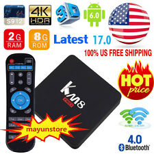 KM8 PRO TV BOX Android 6.0 2GB/8GB Octa Core Amlogic S912 WiFi BT4.0 4K Media MN