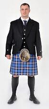 NUOVO Abito Rangers moderno 8 Iarda lana scozzese COMPLETO DI Kilt pacchetto MADE TO MEASURE