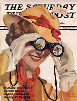 1937 Saturday Evening Post August 21-Damon Runyon; Wodehouse; Glenn Martin