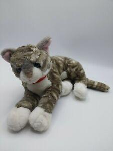"Aurora Grey Tabby Cat 10"" Plush"