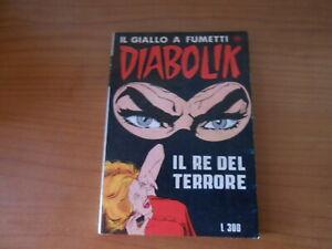 """fumetto noir-DIABOLIK n.1 IL RE DEL TERRORE-serie """"R"""" luglio 1978"""