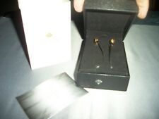 MEELECTRONICS CRYSTAL IN-EAR HEADPHONES WITH MICROPHONES GOLD w/ CASE BUNDLE