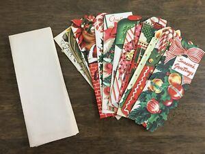 13 Different Vintage Christmas Cards Unused With Envelopes In original Box