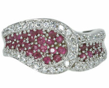 Cubic Zirconia Ruby Sterling Silver Fine Rings