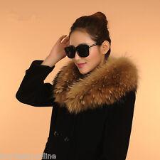 Genuine Raccoon Fur Collar Men&Women's Handmade Wrap Scarf DIY your Down jacket
