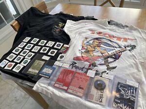 Lot: Ratt, Rolling Stones, Prince - Shirts, Backstage Passes, Guitar Picks