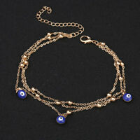 Fashion Evil Eye Beads Pendant Charm Anklet Bracelet Women Beach Jewelry Latest