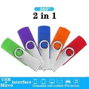 360° Rotate OTG USB Flash drive 2.0 Smart Phone pen drive 4GB 8GB 16GB 32GB 64GB
