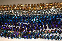 Faceted Rondelle Metallic Beads sizes 10mm, 8mm, 6mm, 4mm
