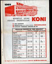 """VILLENEUVE-LOUBET (06) Tract Publicité USINE AMORTISSEUR AUTOMOBILE """"KONI"""" 1961"""