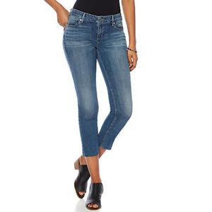 Lucky Brand Women's Curvy Blue Jeans Lolita Sunbeam Crop Stretch Denim