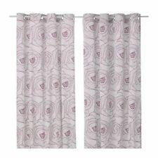 """IKEA Curtains 1 pair INGERLISE  57 x 98"""" 2 panels White Lilac Eyelet Deading NEW"""