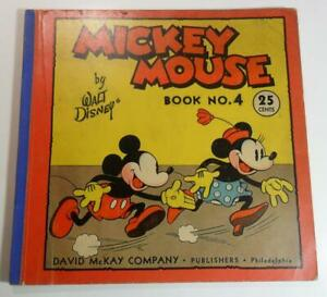 MICKEY MOUSE COMIC BOOK NO. 4 1934 DAVID MCKAY 1ST ED  MICKEY'S TAIL CUT OFF