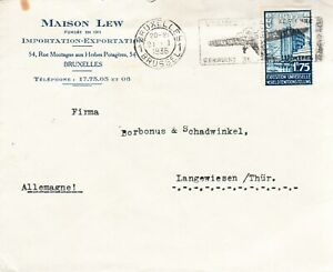 Belgium, 1935 business cover to Germany, special cancels