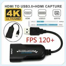 4K HDMI zu USB3.0 Video Capture Card  Grabber 1080P Recorder Game Live Streaming