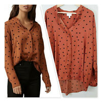[ WITCHERY ] Womens Polka Dot Blouse Top | Size AU 16 or US 12