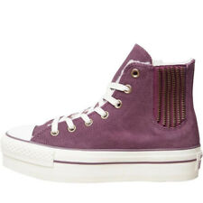 NEW Converse High Top Purple Fur Platform Suede Zip All Star 36.5 36