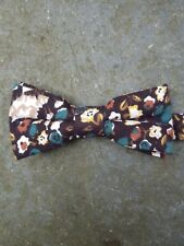1937 Londres Country Willow 100% Cotton Bow Tie-Hook and Ring