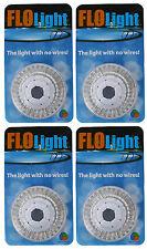4) LED Swimming Above Inground Pool Flo Lights Wireless Universal Return 4 Pack