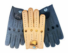 TOP QUALITY RETRO REAL SOFT LEATHER MEN'S DRIVING STYLISH FASHION GLOVES D-514