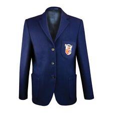 Girls Wool School Blazer with  Bell Baxter badge Italian Wool Royal