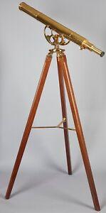 R&J Beck Ltd. Antique Brass British Harbormasters Telescope Vintage Ealing
