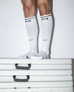 Men's KVRT STVFF 2 Pairs Of White Socks With Graphics. New One Sz