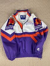 Phoenix Suns Starter Script Double Big Logo Windbreaker Jacket M NBA 90s Anorak