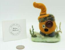 New listing Needle Felted wool pumpkin person folk art doll Melissa Philbrook Handmade Usa