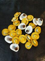 36 lot DICK TRACY YELLOW HAT lapel pin NOS vintage! Enamel metal pins wholesale